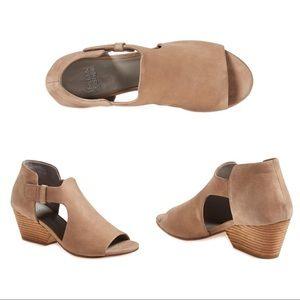 Eileen Fisher Iris Cutout Nubuck Peep Toe Sandals
